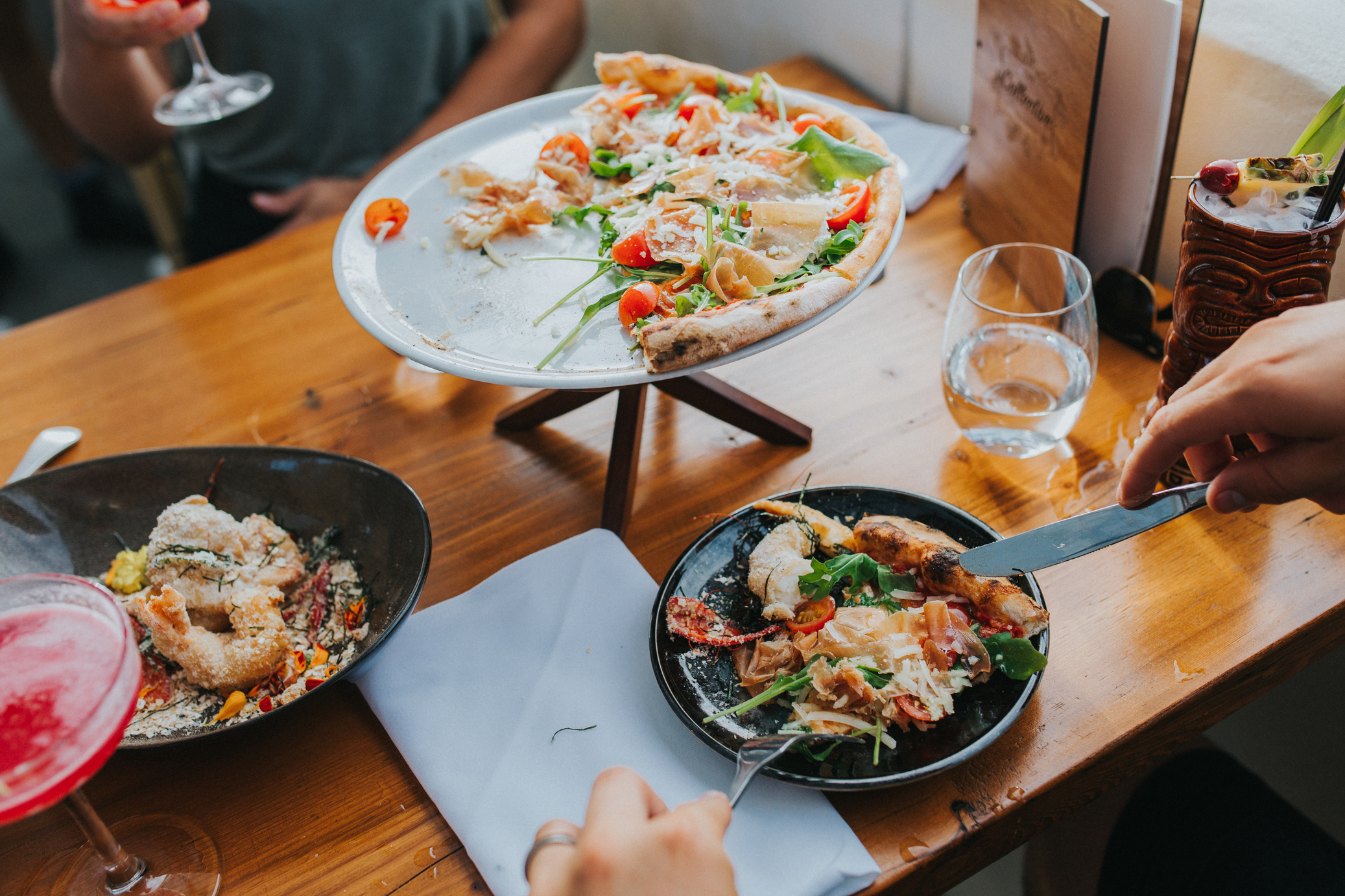 The-Collective-Palm-Beach-plate-of-pizza-and-seafood-2